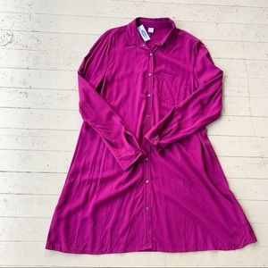 NWT old navy purple button down dress